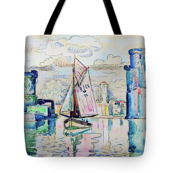 Entrance To The Harbor Of La Rochelle - Digital Remastered Edition Tote Bag