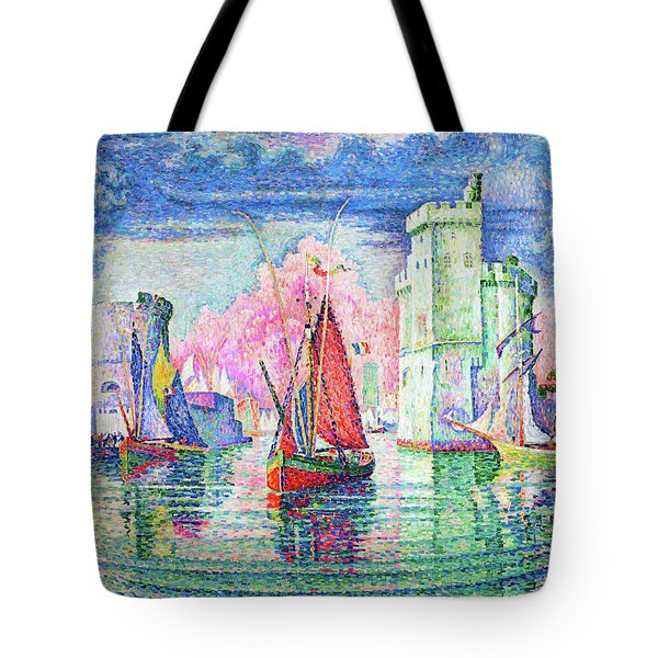 Entrance To The Port Of La Rochelle - Digital Remastered Edition Tote Bag