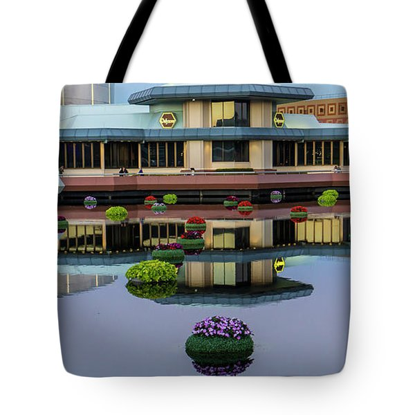 Epcot Lake Flowers Tote Bag