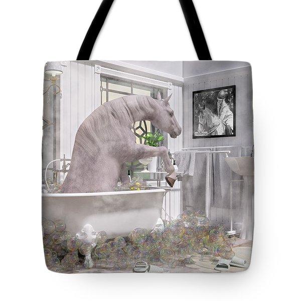 Equine Bubble Bath Beauty Time  Tote Bag