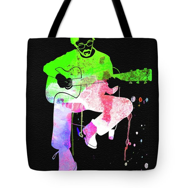 Eric Clapton Stone Watercolor Tote Bag