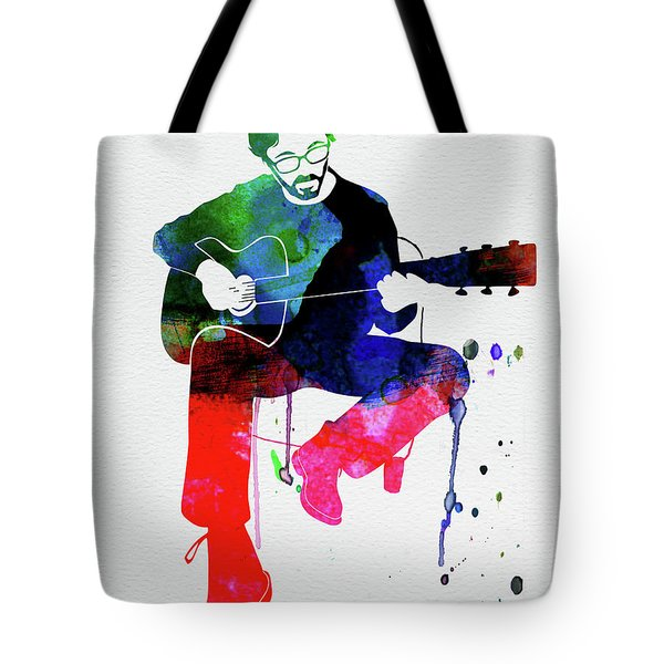Eric Clapton Watercolor Tote Bag