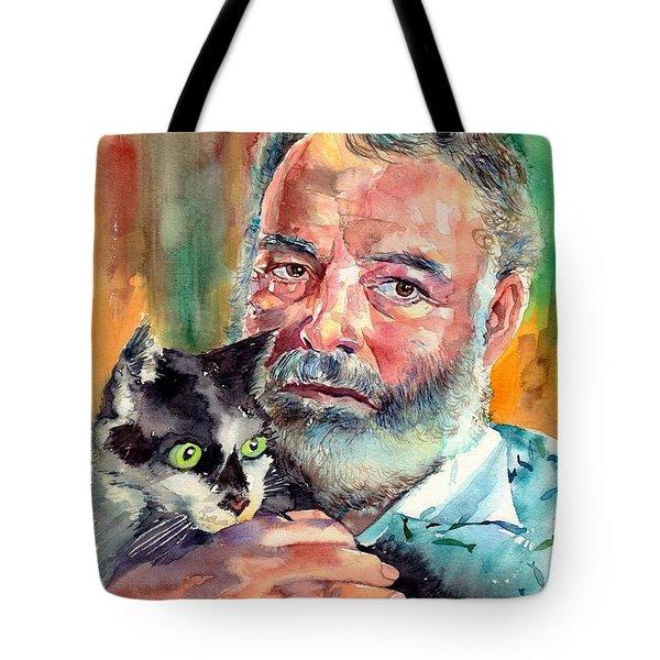 Ernest Hemingway Portrait Tote Bag