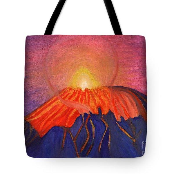 Glow Fading Volcano Tote Bag