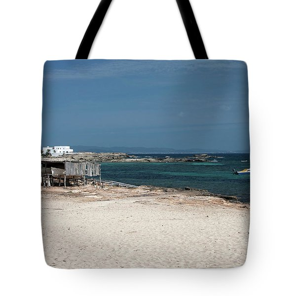 Es Pujols Beach On The Island Of Formentera Tote Bag