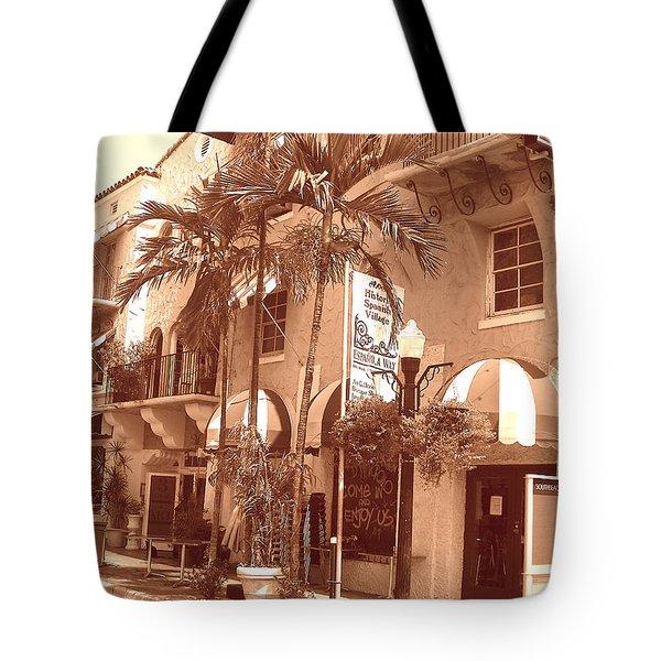 Espanola Way In Miami South Beach Tote Bag