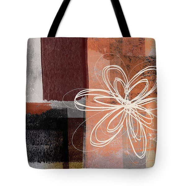 Tote Bag featuring the mixed media Espresso Flower 1-  Art By Linda Woods by Linda Woods