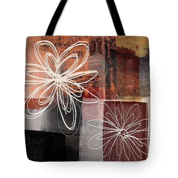 Tote Bag featuring the mixed media Espresso Flower 2- Art By Linda Woods by Linda Woods