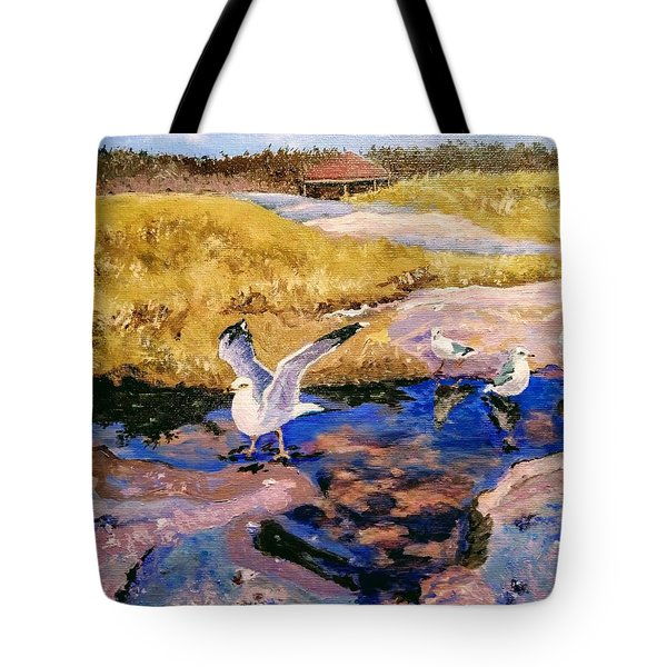 Tote Bag featuring the painting Essence Of Life by Ray Khalife