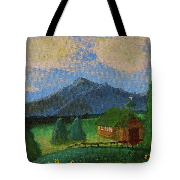 Esterbrook Chapel, Wyoming Tote Bag