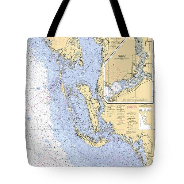 Estero Bay To Lemon Bay, Noaa Chart 11426 Tote Bag