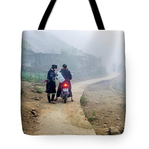 Ethnic Minority On The Road In Sapa, Vietnam Tote Bag