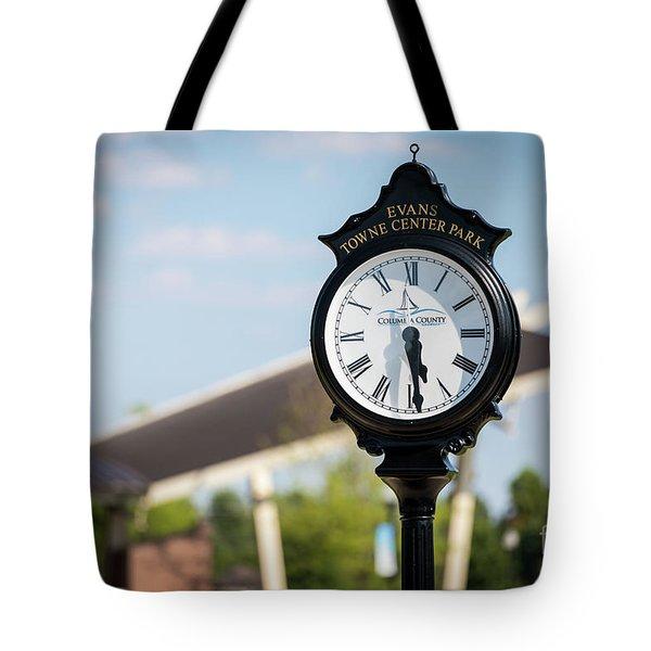 Evans Towne Center Park Clock - Evans Ga Tote Bag