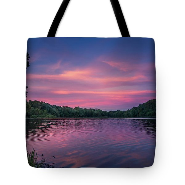 Evening At Springfield Lake Tote Bag