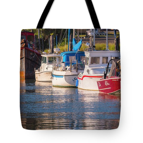 Evening At The Harbor Tote Bag