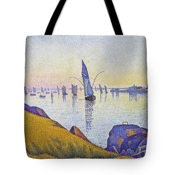 Evening Calm, Concarneau - Digital Remastered Edition Tote Bag