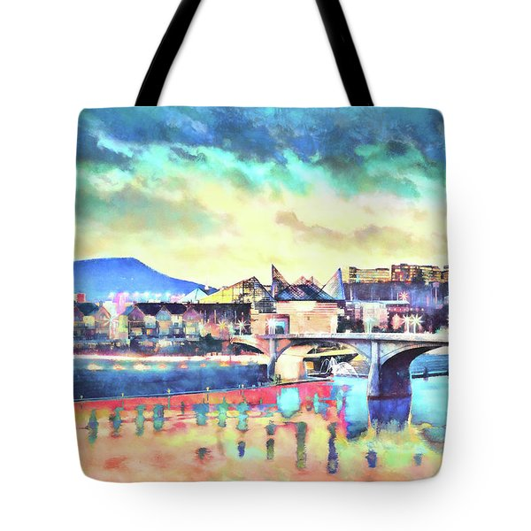 Evening Glow After The Storm Tote Bag