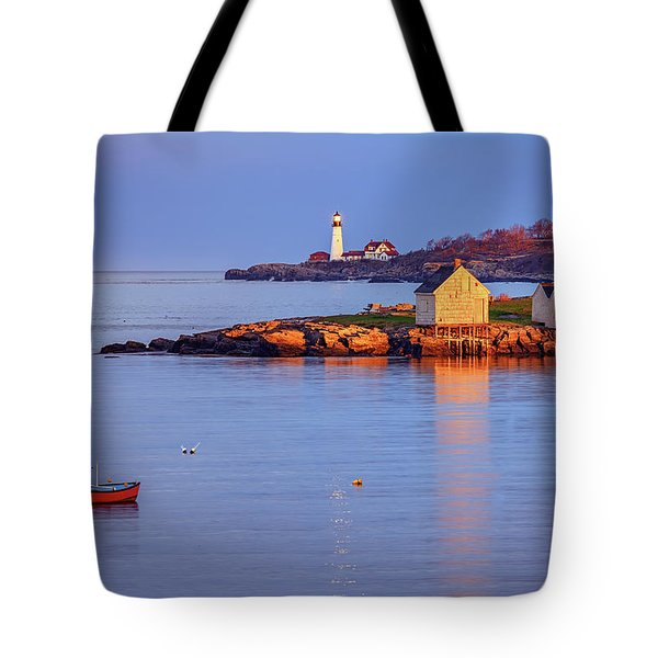 Evening Glow At Willard Beach Tote Bag