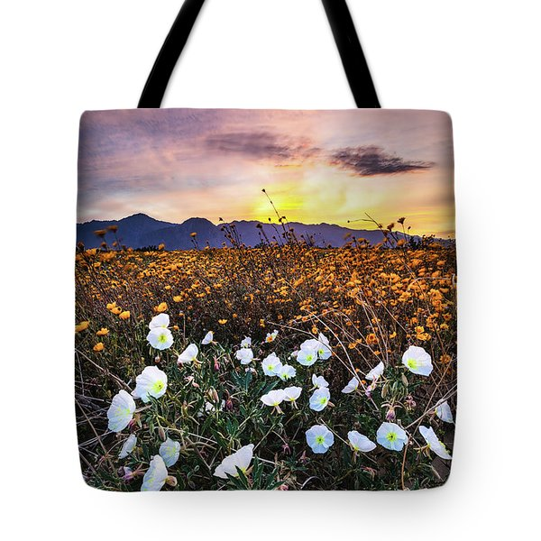 Evening With Primroses Tote Bag