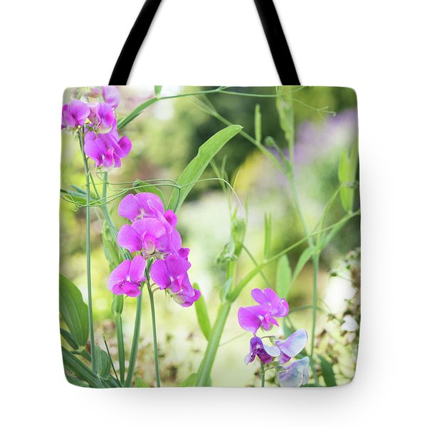 Tote Bag featuring the photograph Everlasting Pea Flowers by Tim Gainey