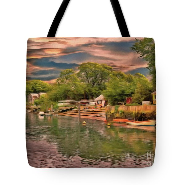 Tote Bag featuring the photograph Everything That I Love About The River by Leigh Kemp