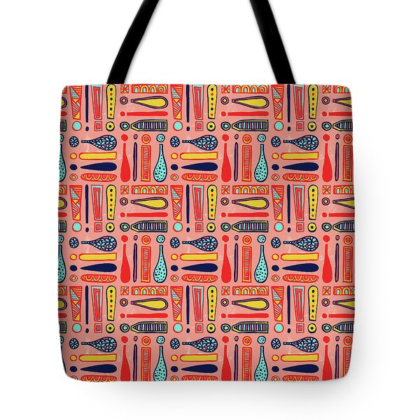 Exclamations Pattern Tote Bag