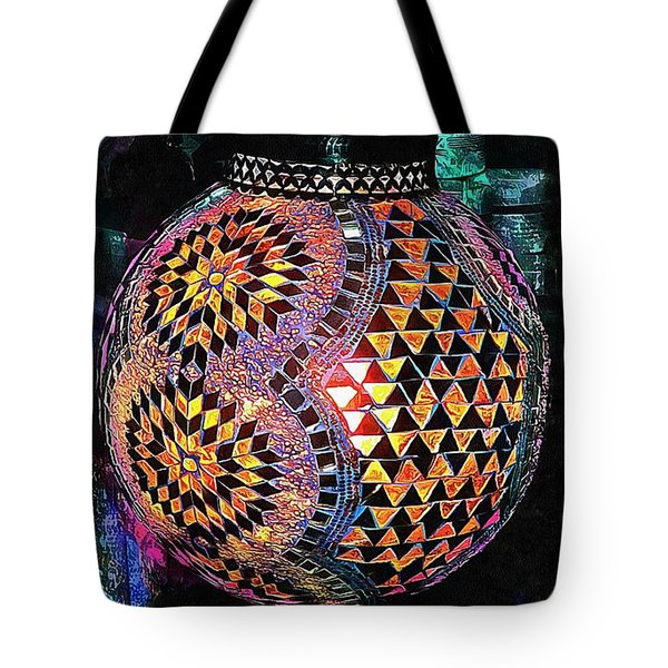 Tote Bag featuring the photograph Exotic Oriental Mosaic by Dorothy Berry-Lound