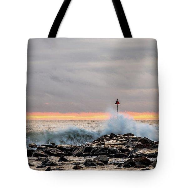Explosive Sea 1 Tote Bag