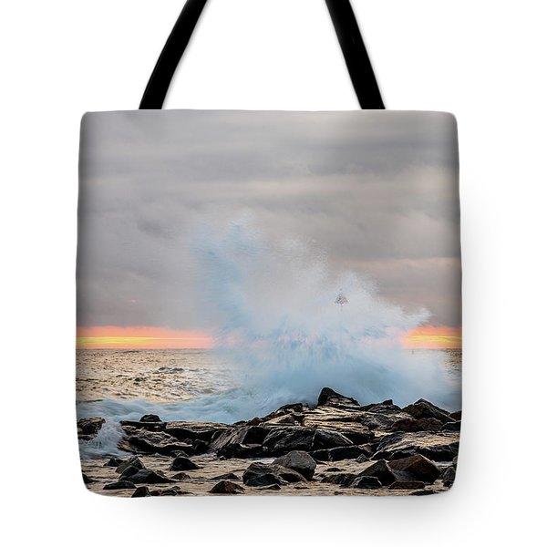 Explosive Sea 4 Tote Bag