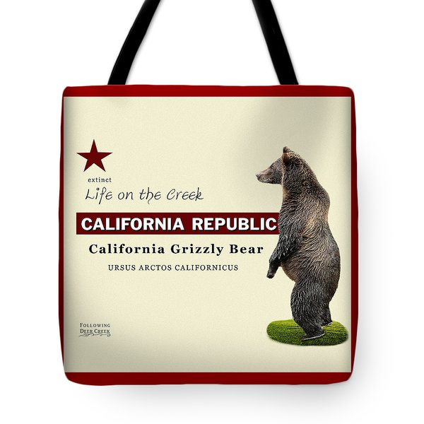 Extinct California Grizzly Bear Tote Bag