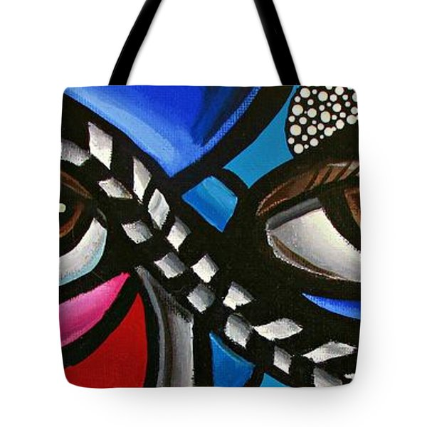 Eye Art Painting Abstract Chromatic Painting Electric Energy Artwork Tote Bag