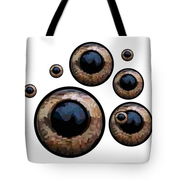 Eyes Have It White Tote Bag