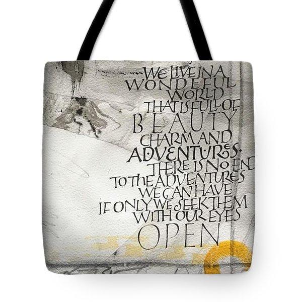 Eyes Open Tote Bag