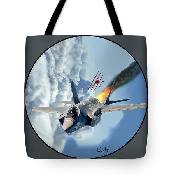 F-35 Vs The Red Baron Tote Bag