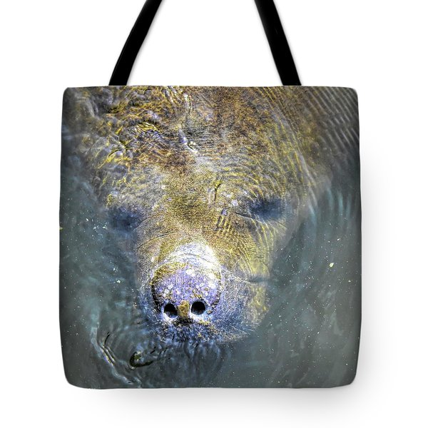 Face Of The Manatee Tote Bag