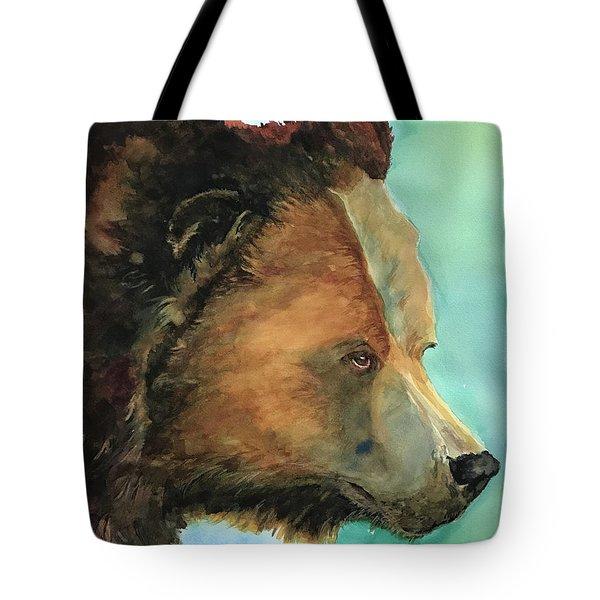 Face To Face Bear Tote Bag