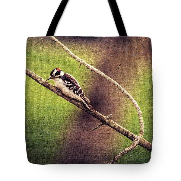 Faded Canvas Woodpecker Tote Bag