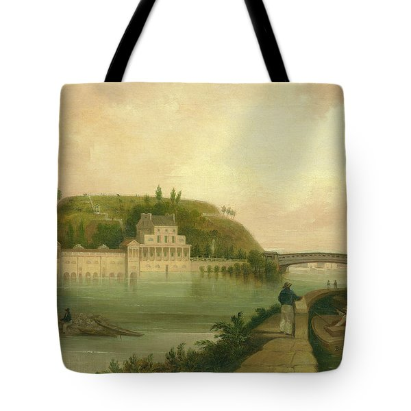 Fairmount Waterworks About 1838 Tote Bag