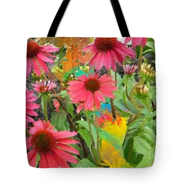 Fairy Among The Flowers Tote Bag