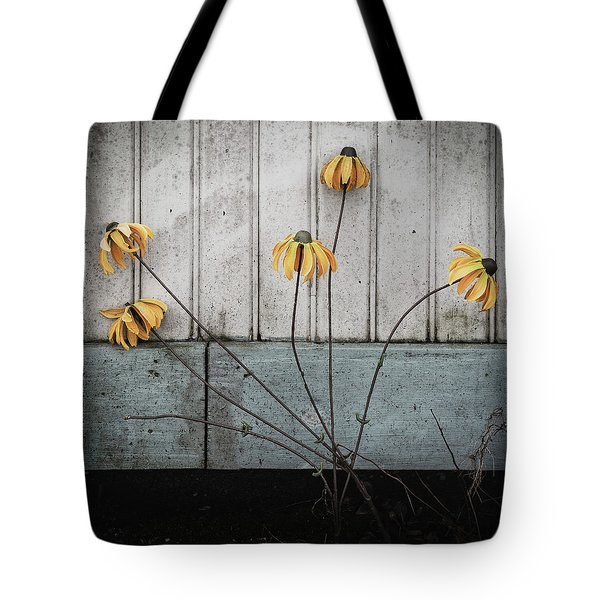 Fake Wilted Flowers Tote Bag
