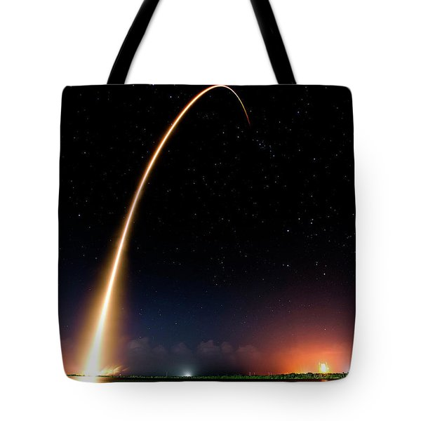 Falcon 9 Rocket Launch Outer Space Image Tote Bag