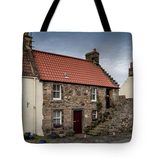 Tote Bag featuring the photograph Falkland Cottages by Ross G Strachan