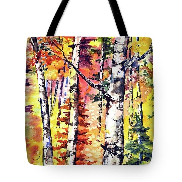 Fall Aspen Colors Tote Bag