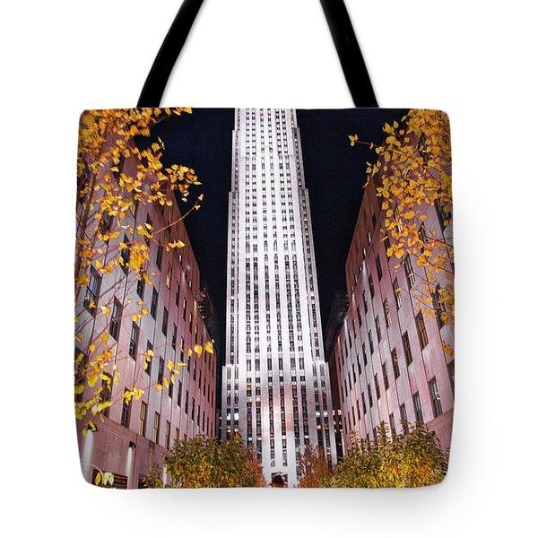 Fall At Rockefeller Center Tote Bag