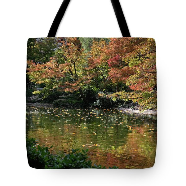Fall At The Japanese Garden Tote Bag