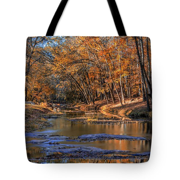 Tote Bag featuring the photograph Fall Colors On Broad River by Bernd Laeschke