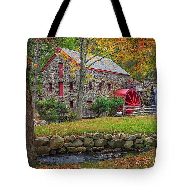 Fall Foliage At The Grist Mill Tote Bag