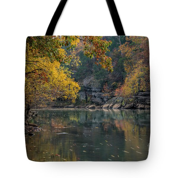 Tote Bag featuring the photograph Fall In Arkansas by Joe Sparks