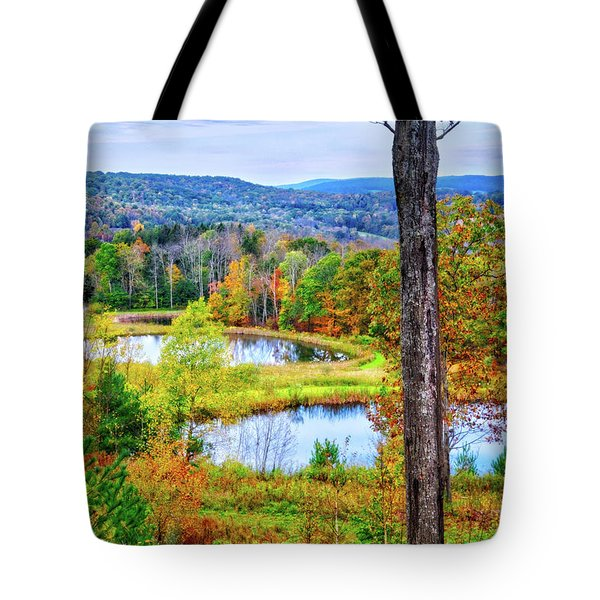 Tote Bag featuring the photograph Fall Memories At The Ponds by Lynn Bauer