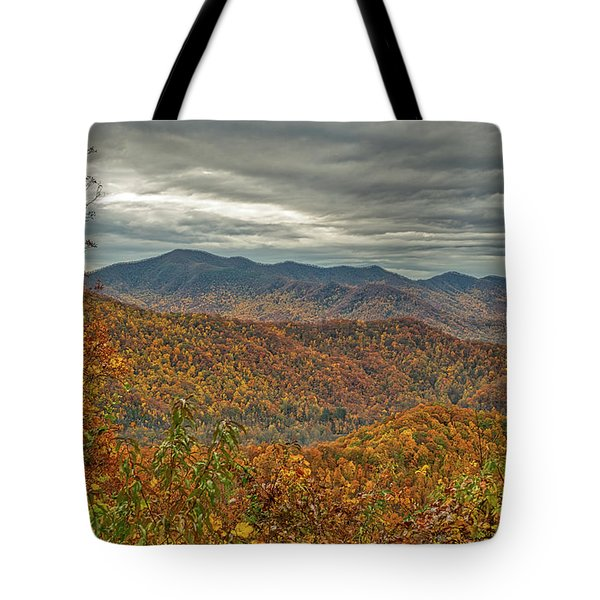 Tote Bag featuring the photograph Fall Overlook by Meta Gatschenberger